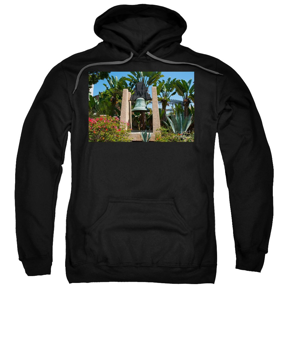 Bell Sweatshirt featuring the digital art El Pueblo De Los Angeles by Carol Ailles