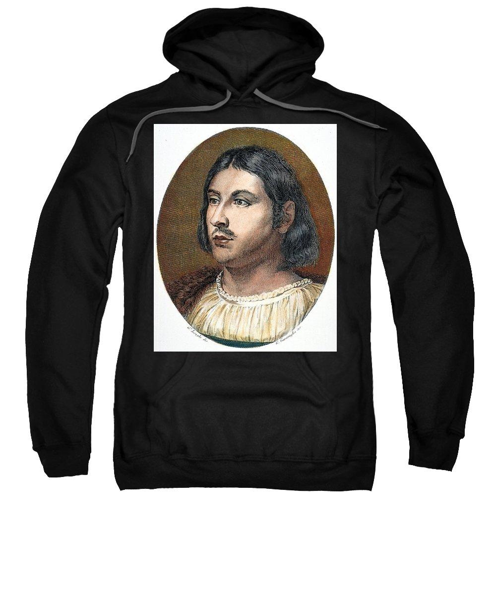 14th Century Sweatshirt featuring the photograph Giovanni Boccaccio by Granger