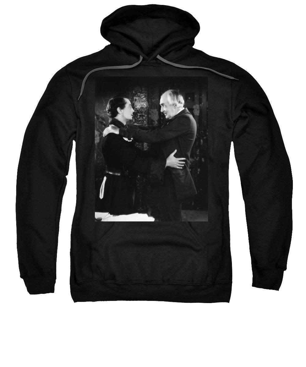 -ecq- Sweatshirt featuring the photograph Silent Still: Two Men by Granger