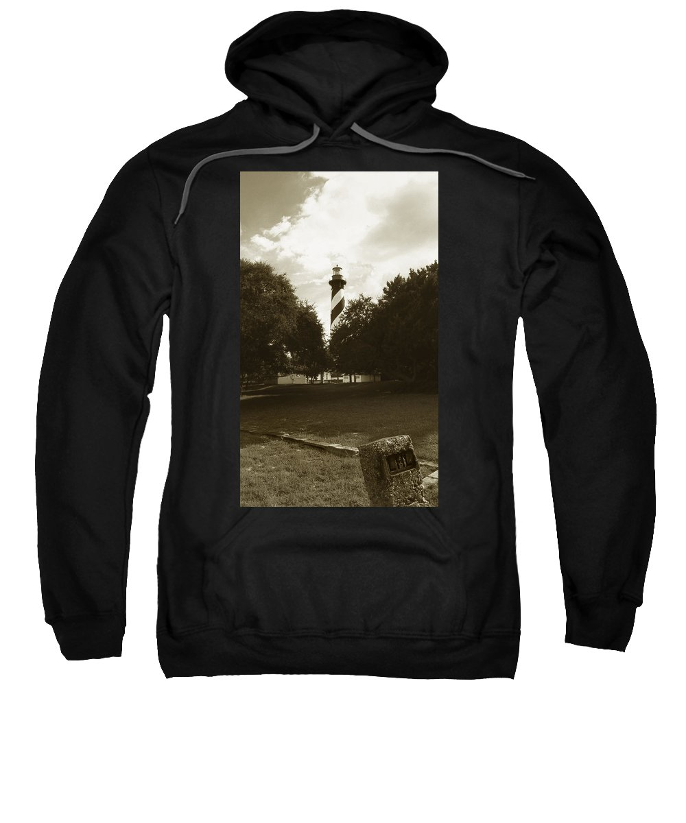 Lighthouses Sweatshirt featuring the photograph St. Augustine Lighthouse by Skip Willits