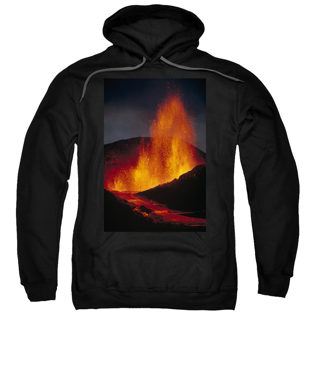 Cerro Azul Sweatshirt featuring the photograph Volcanic Eruption, Spatter Cone by Tui De Roy