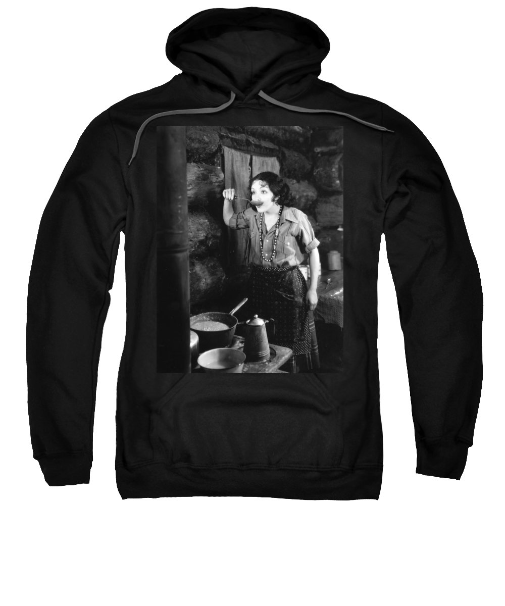 -housework & Cooking- Sweatshirt featuring the photograph Silent Film Still by Granger