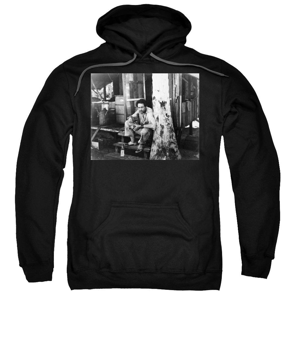 -man Single- Sweatshirt featuring the photograph Silent Still: Single Man by Granger