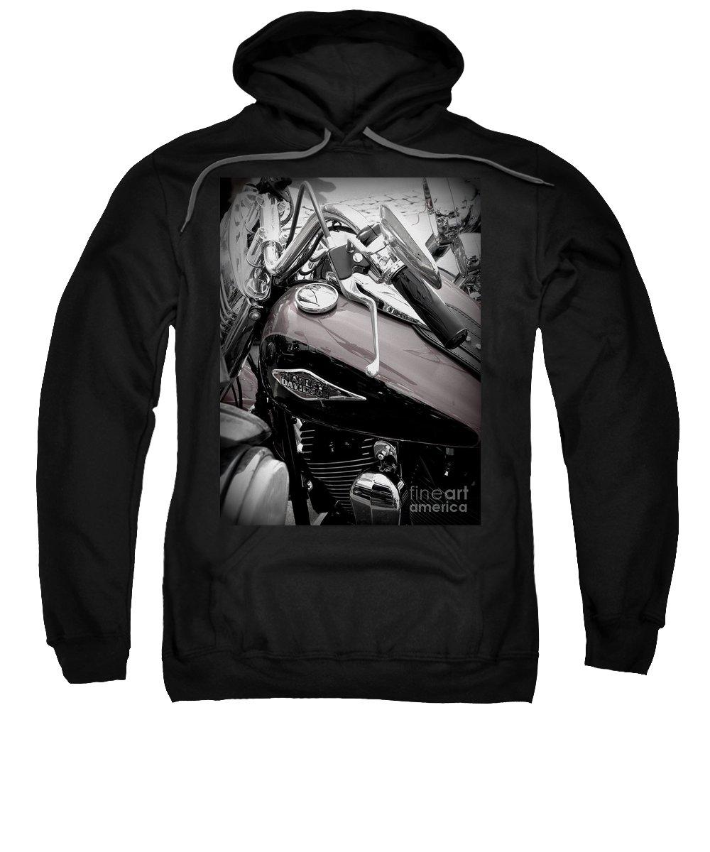 Harley Davidson Sweatshirt featuring the photograph 3 - Harley Davidson Series by Lainie Wrightson