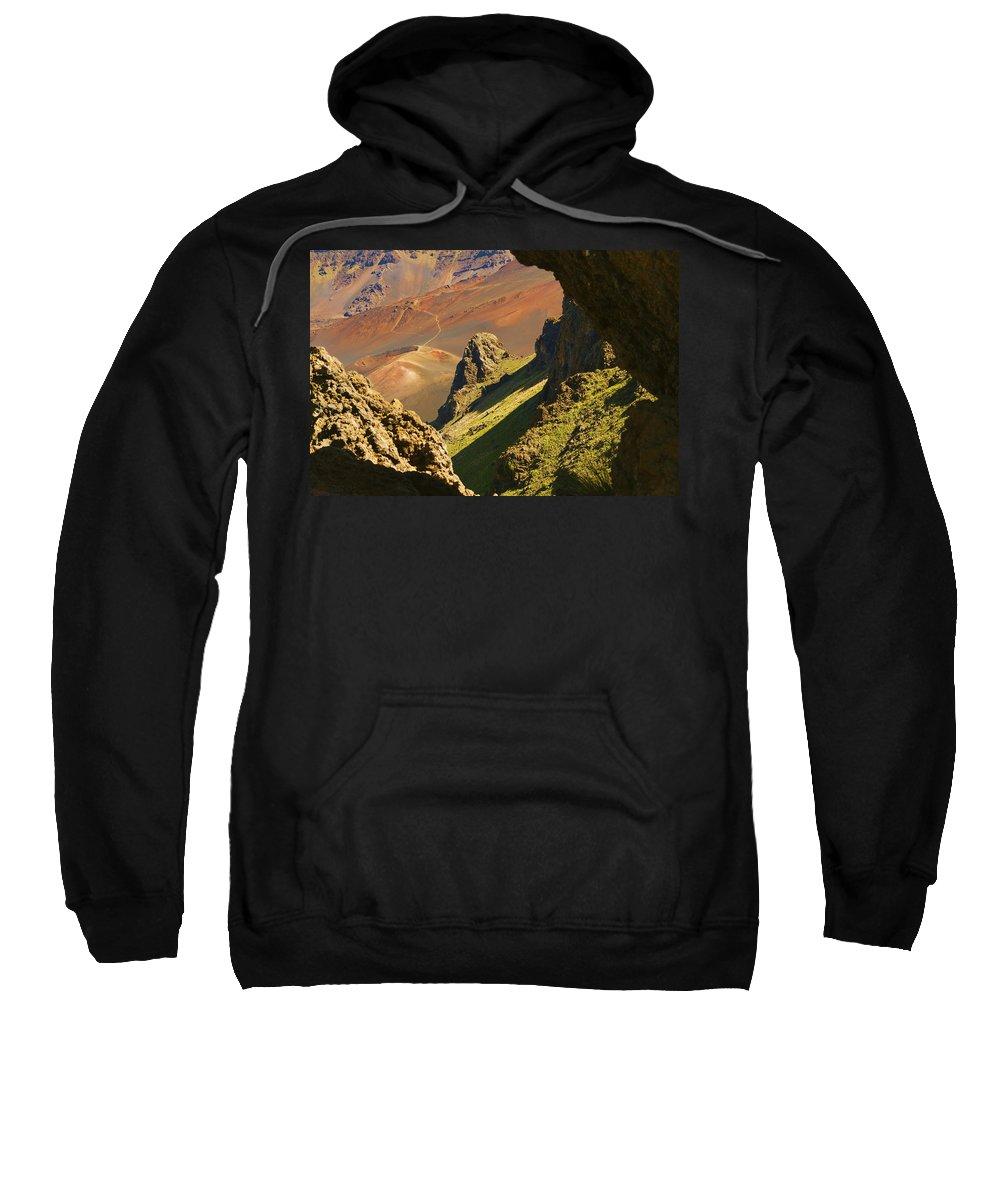 Altitude Sweatshirt featuring the photograph Haleakala National Park by Ron Dahlquist - Printscapes