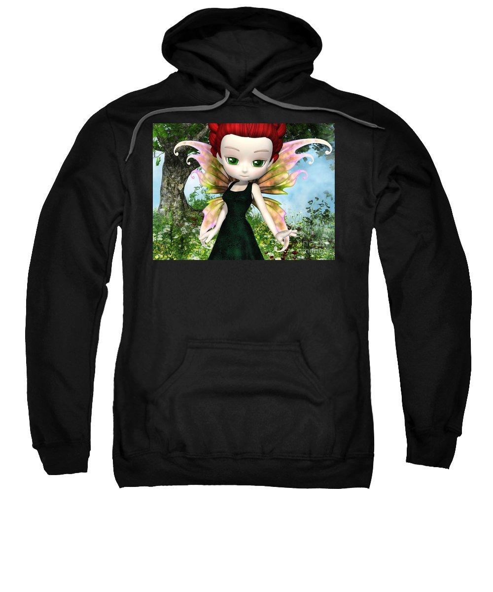 3d Sweatshirt featuring the digital art Lil Fairy Princess by Alexander Butler