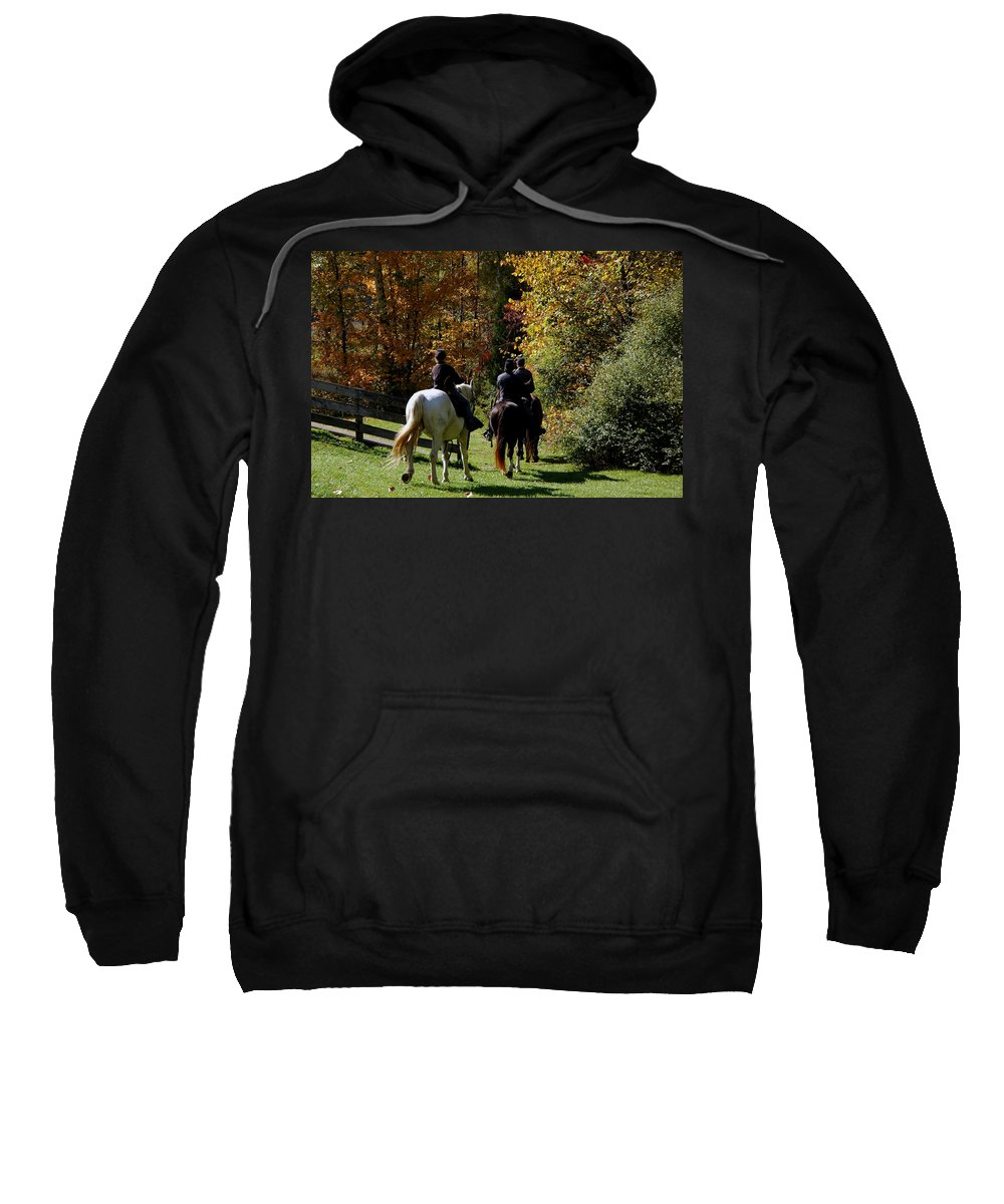 Usa Sweatshirt featuring the photograph Riding Soldiers by LeeAnn McLaneGoetz McLaneGoetzStudioLLCcom