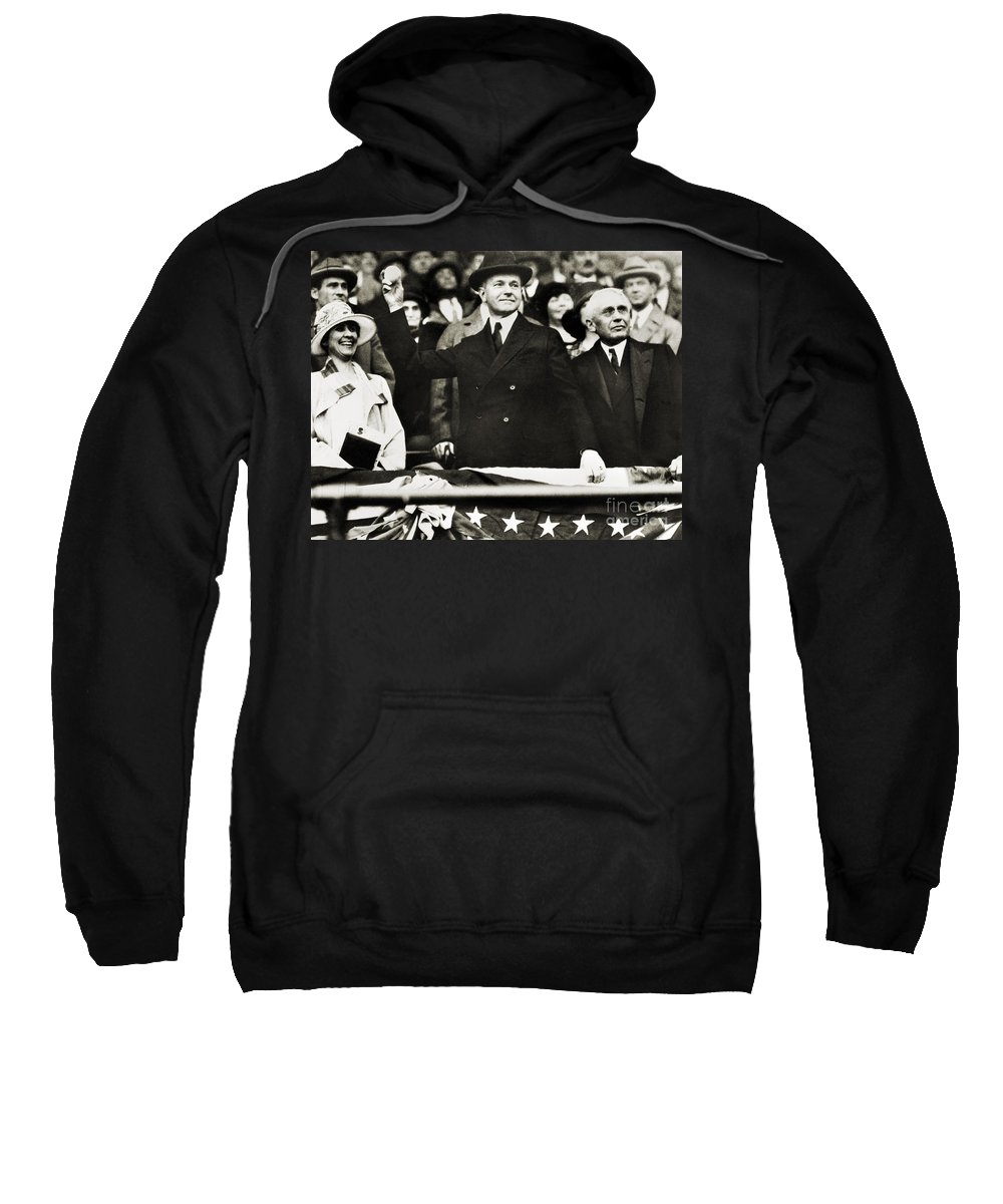 1920s Sweatshirt featuring the photograph Calvin Coolidge (1872-1933) by Granger