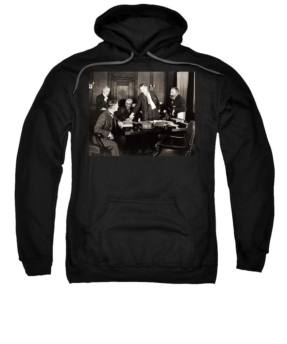 -board Meetings- Sweatshirt featuring the photograph Silent Still: Board Meeting by Granger