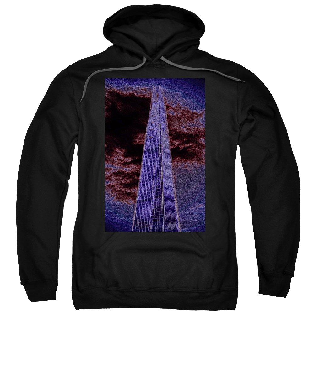 Shard Sweatshirt featuring the digital art The Shard London by David Pyatt