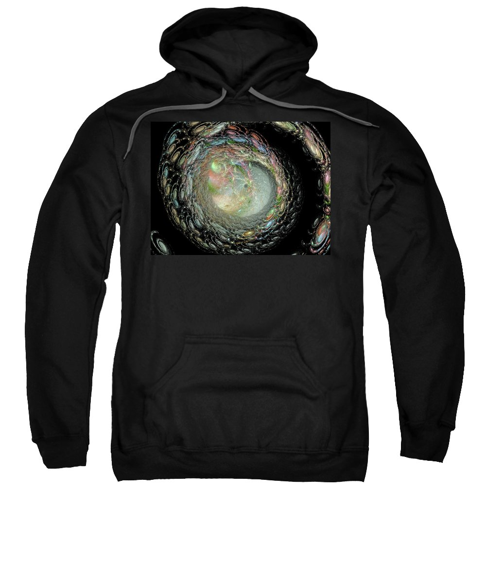 Fractal Sweatshirt featuring the digital art Untitled by Betsy Knapp