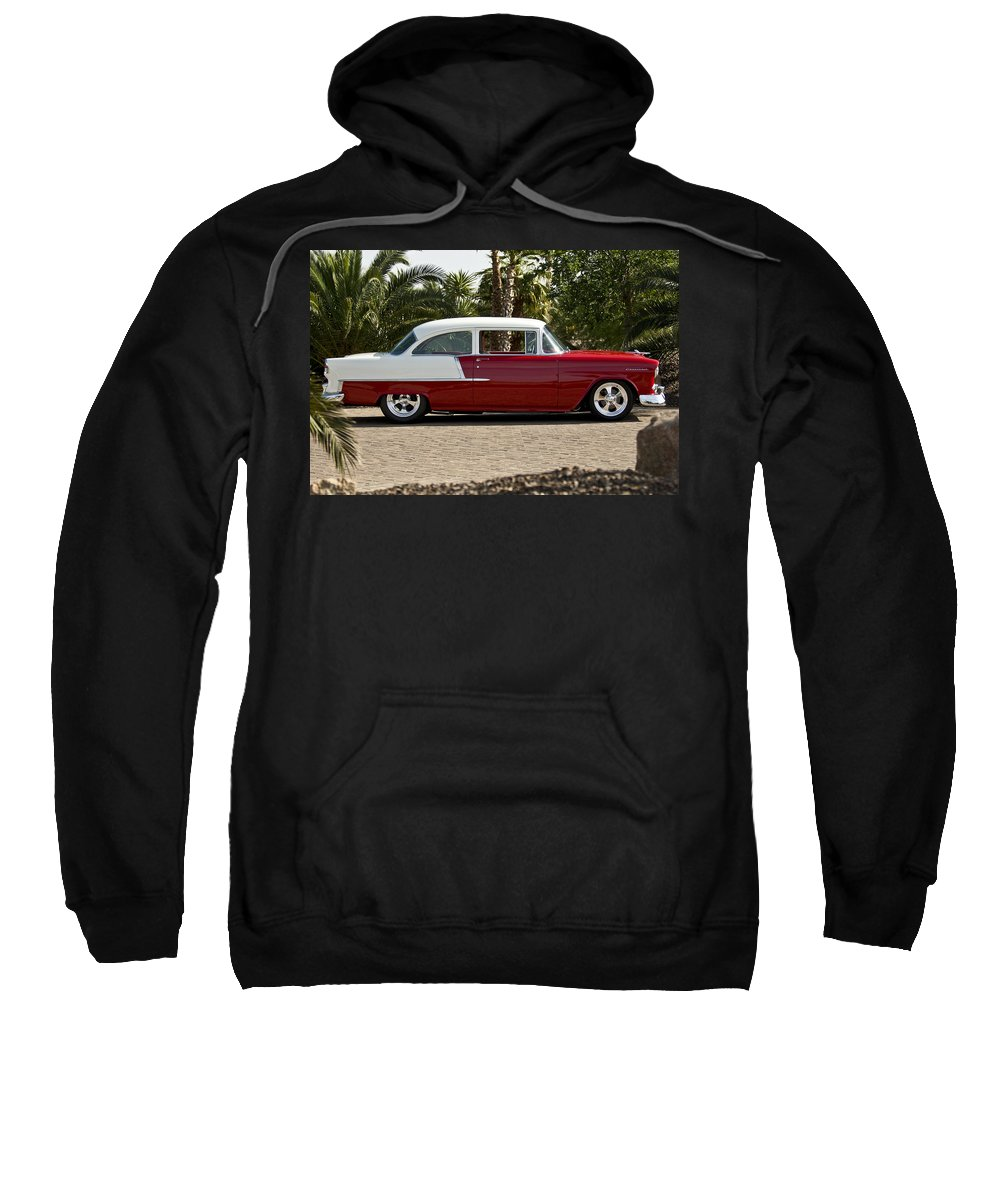 1955 Chevrolet 210 Sweatshirt featuring the photograph 1955 Chevrolet 210 by Jill Reger