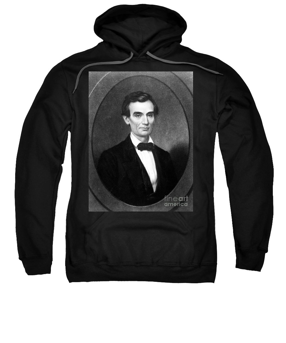 1860 Sweatshirt featuring the photograph Abraham Lincoln (1809-1865) by Granger