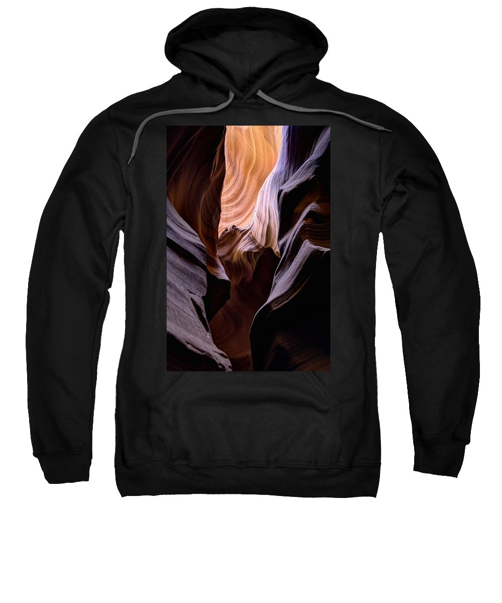Arizona Sweatshirt featuring the photograph Antelope Canyon by Mike Herdering