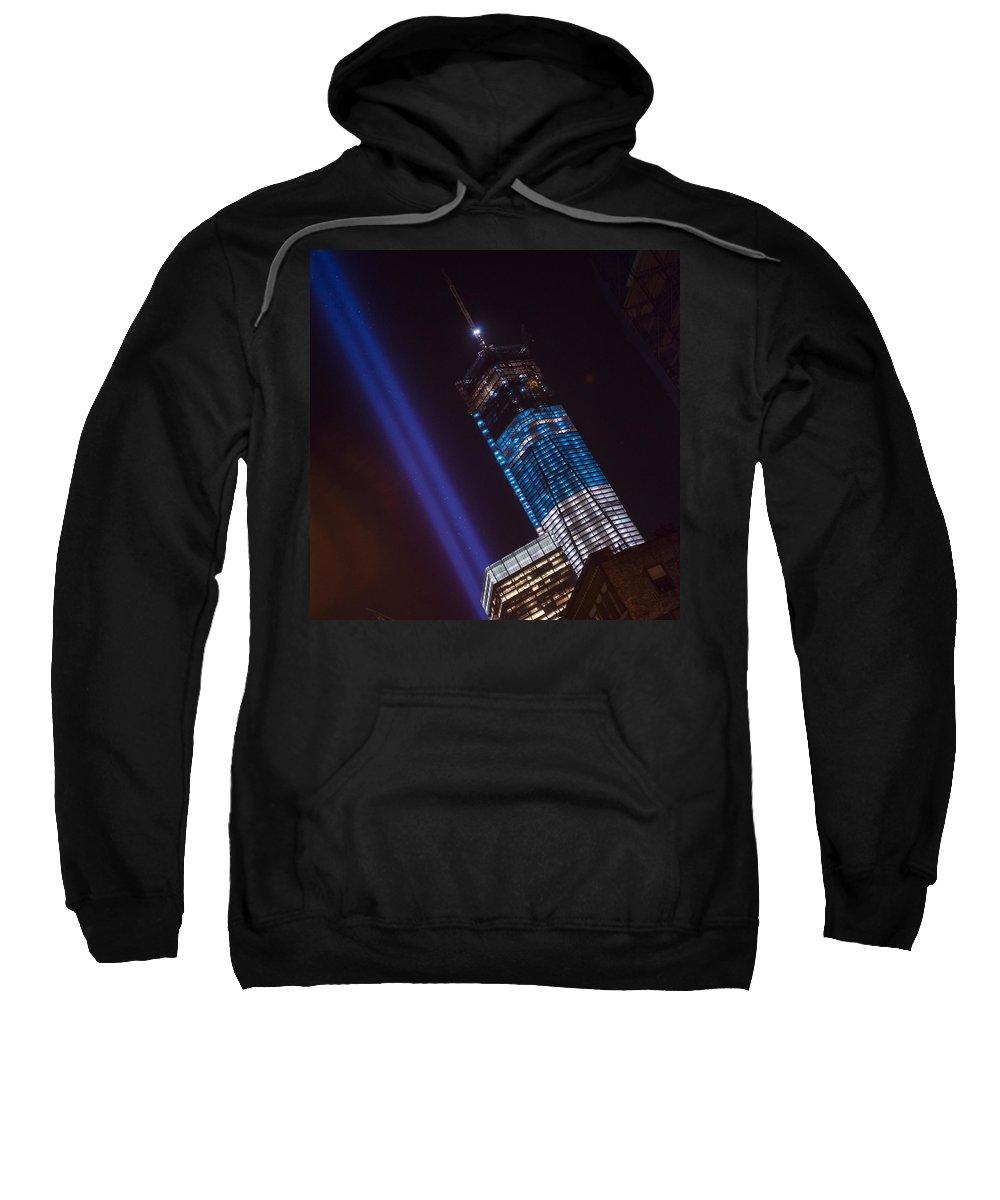 Sweatshirt featuring the photograph Ground Zero Freedom Tower by Theodore Jones