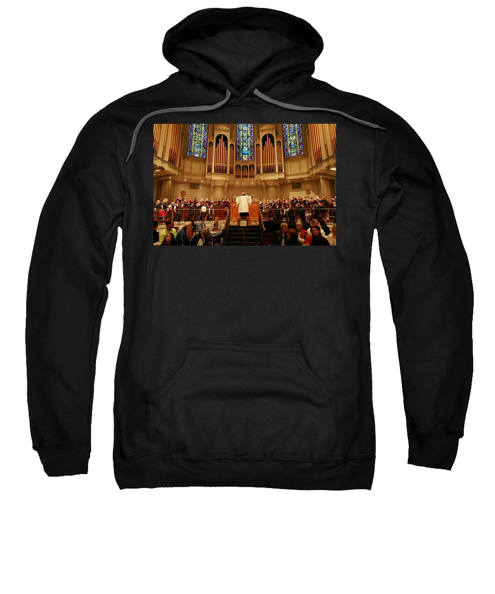 Choir St. James Cathedral Sweatshirt featuring the photograph St James Cathedral by Mike Penney
