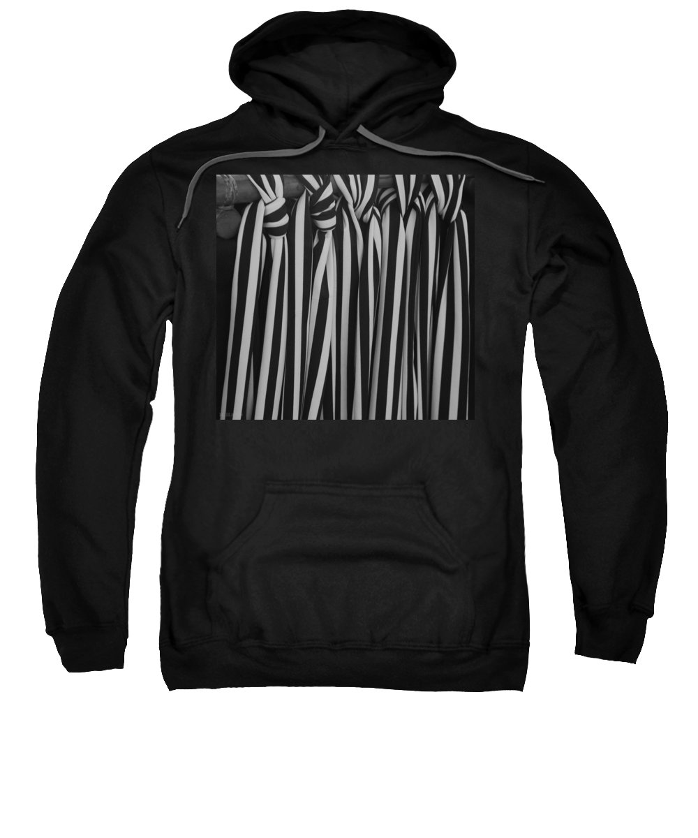 Ties Sweatshirt featuring the photograph 5 Ties In Black And White by Rob Hans