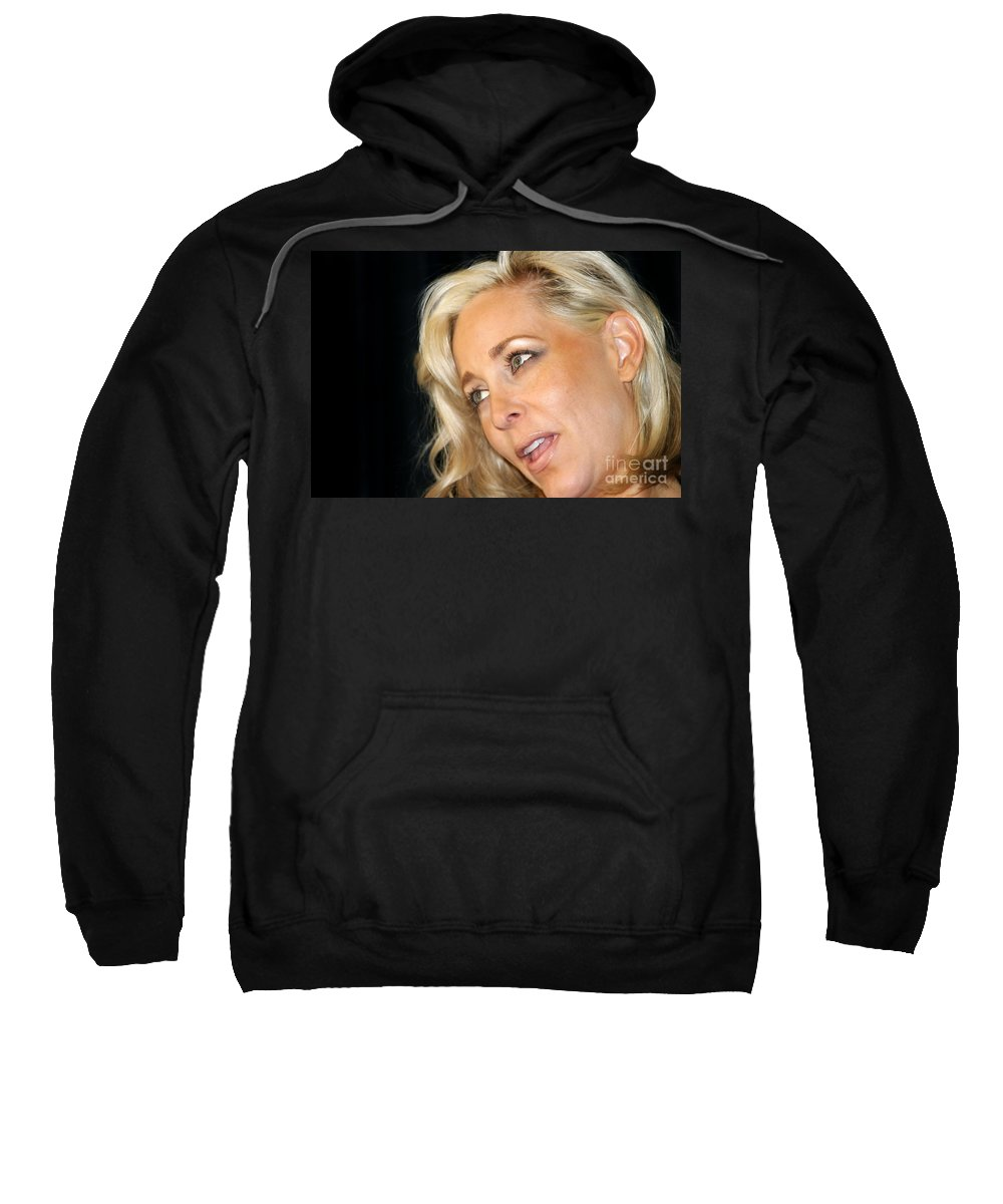 Young Sweatshirt featuring the photograph Blond Woman by Henrik Lehnerer