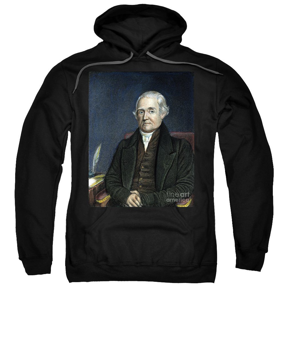 18th Century Sweatshirt featuring the photograph Noah Webster (1758-1843) by Granger
