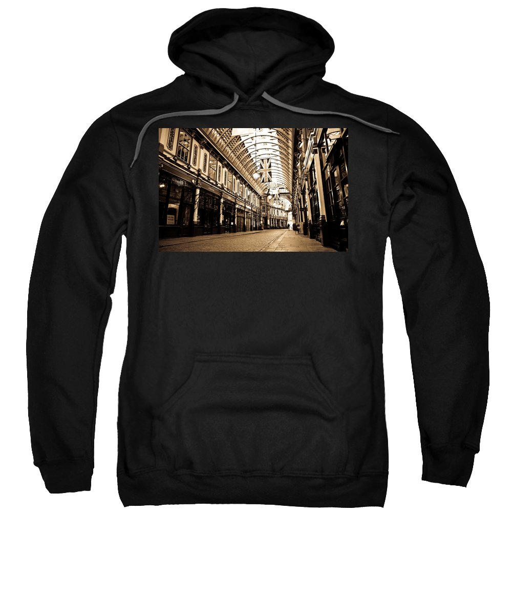 Leadenhall Sweatshirt featuring the photograph Leadenhall Market London by David Pyatt