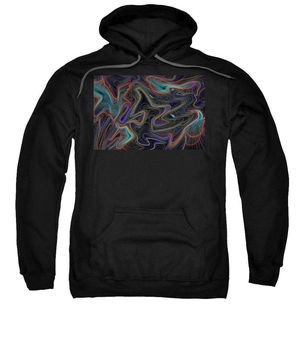 Digital Sweatshirt featuring the digital art Abstract Art by David Pyatt