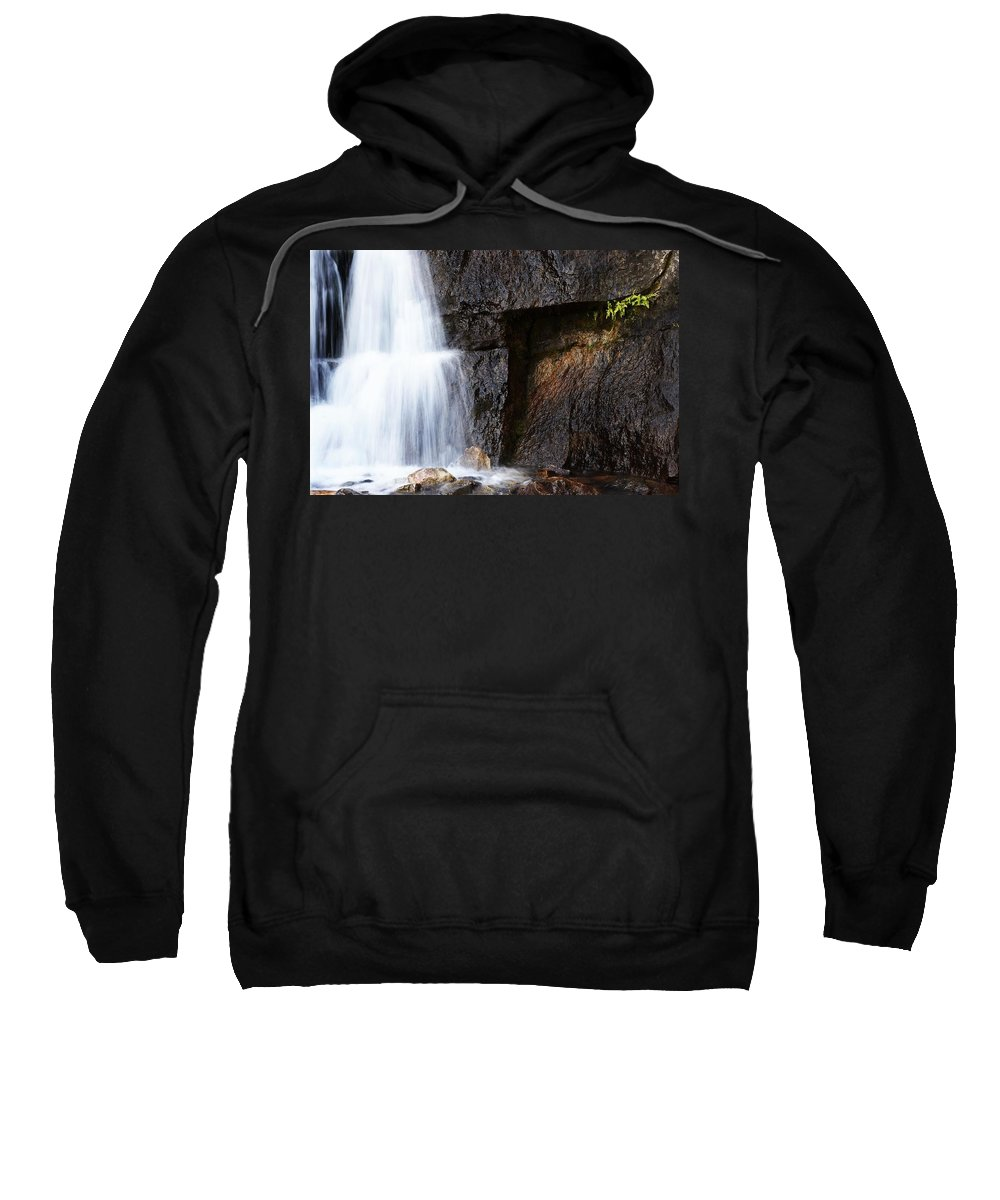 Outdoors Sweatshirt featuring the photograph A Beautiful Waterfall by Chris Knorr