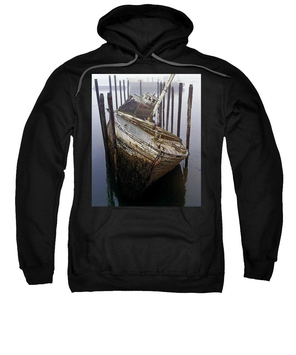 Cape Forchu Sweatshirt featuring the photograph A Broken Boat by David Chapman