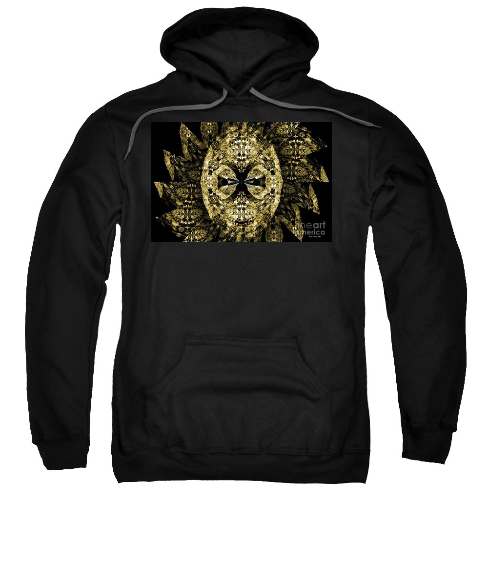Gothic Sweatshirt featuring the digital art A Gothic Guise Of Gold by Maria Urso