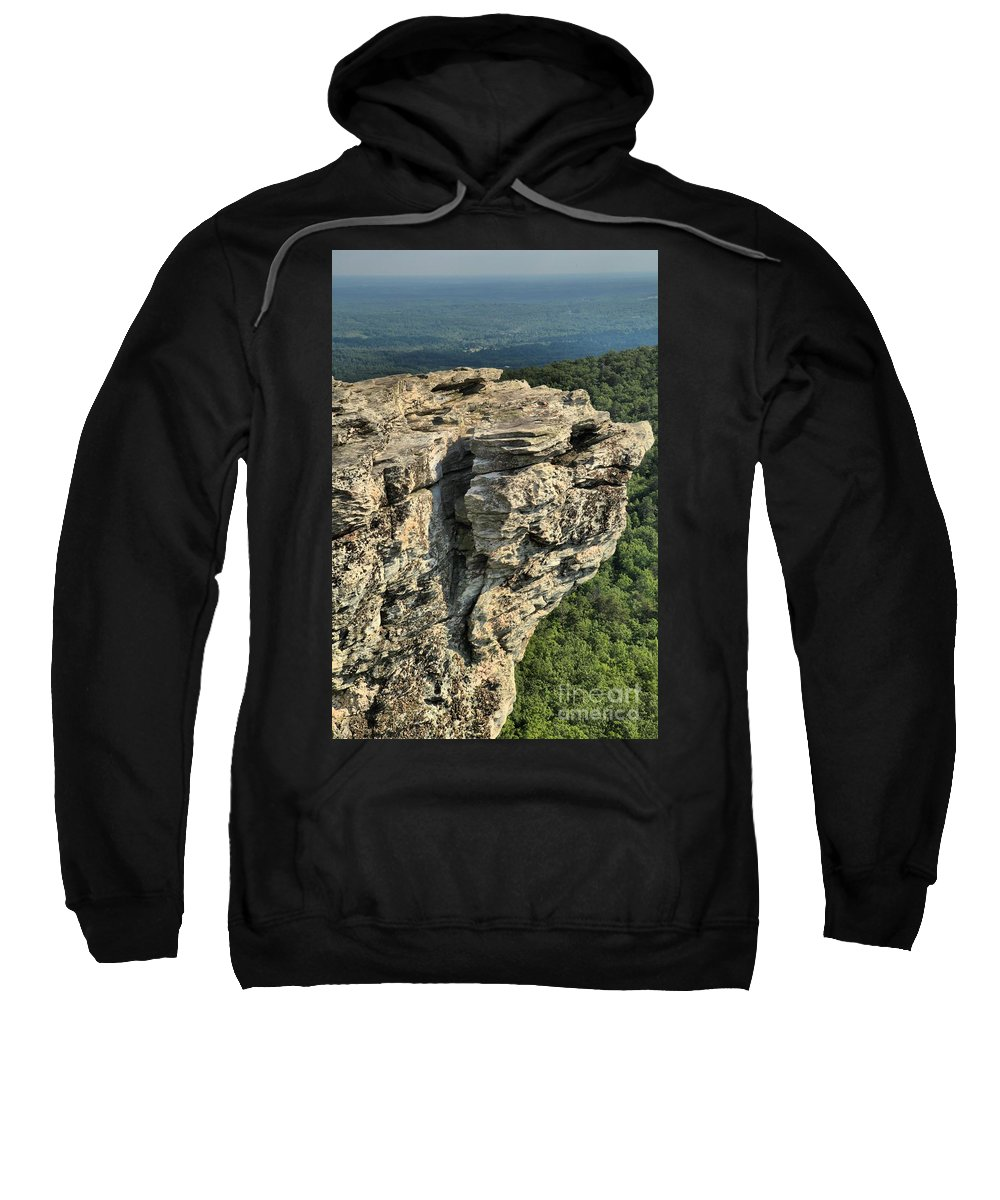 Hanging Rock State Park Sweatshirt featuring the photograph A Mountain Perspective by Adam Jewell