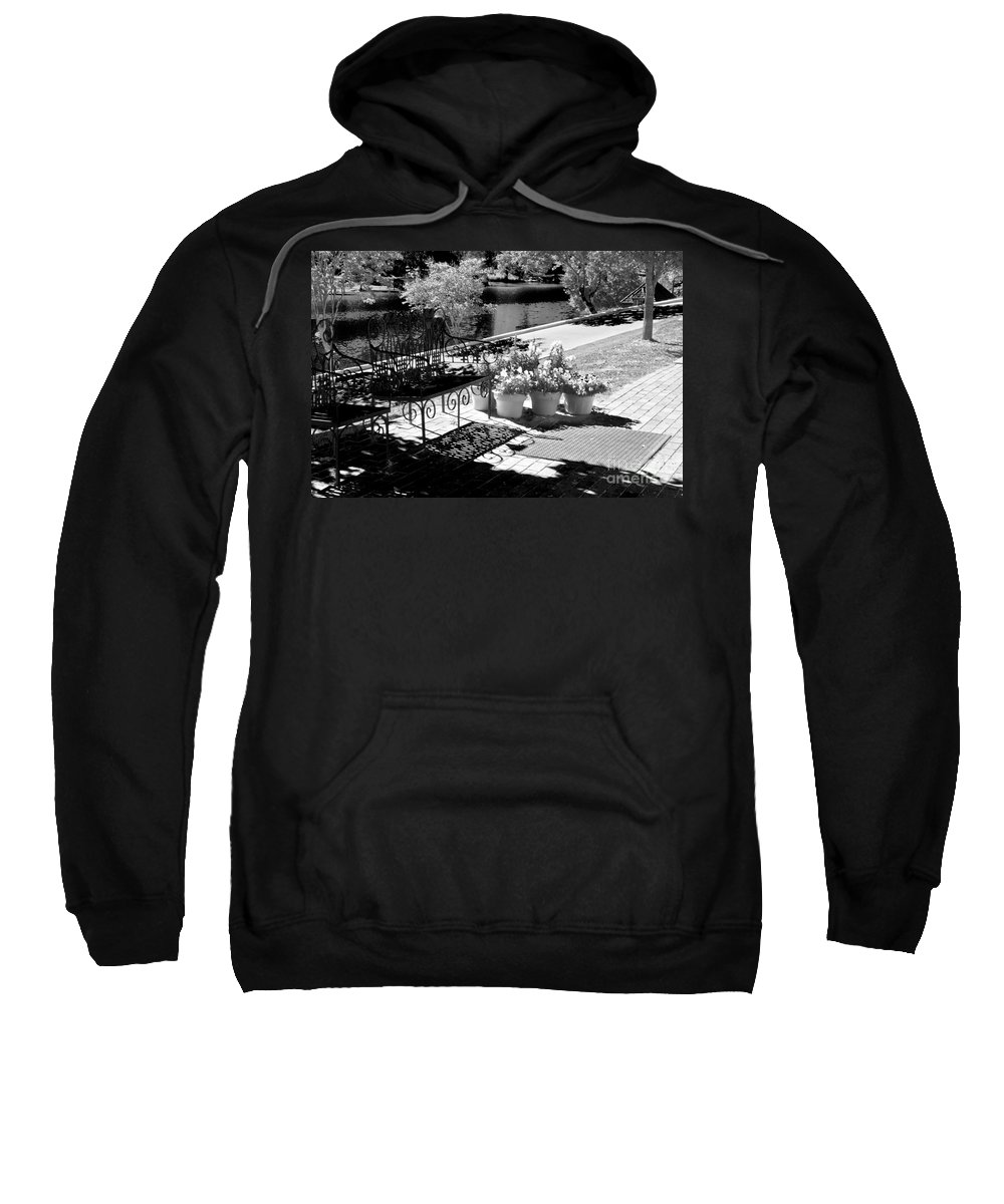 River Sweatshirt featuring the photograph A Place To Sit by Ken Frischkorn