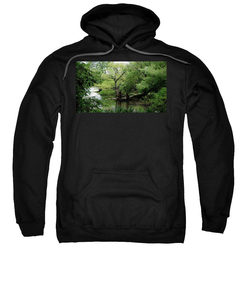 Central Park Sweatshirt featuring the photograph A River Runs Through Central Park by Lorraine Devon Wilke
