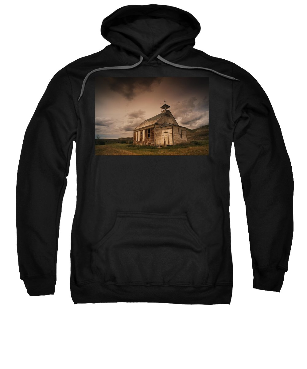 Alberta Sweatshirt featuring the photograph A Simple Wooden Church by Kelly Redinger