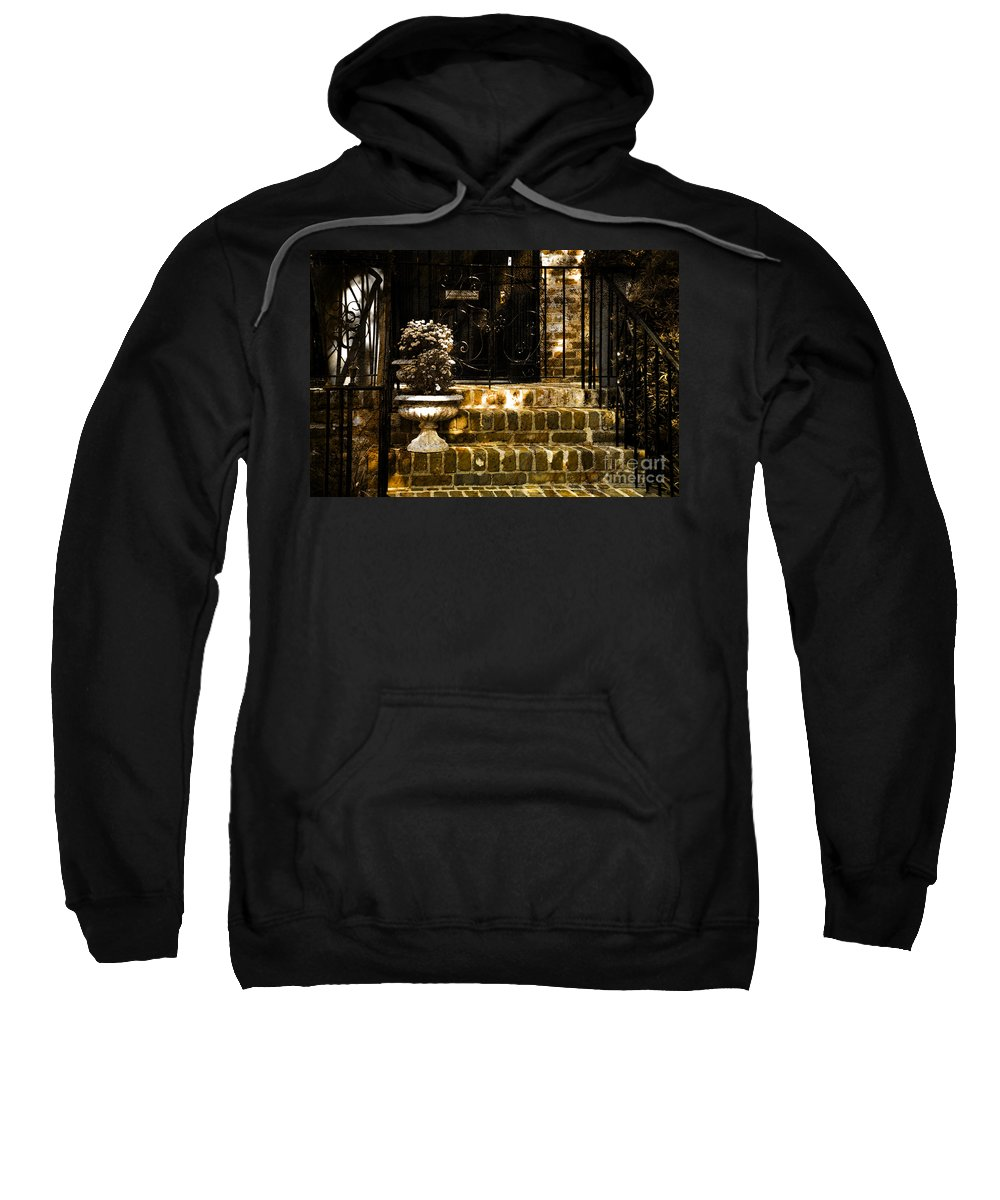 House Door Sweatshirt featuring the photograph A Warm Welcome by Susanne Van Hulst