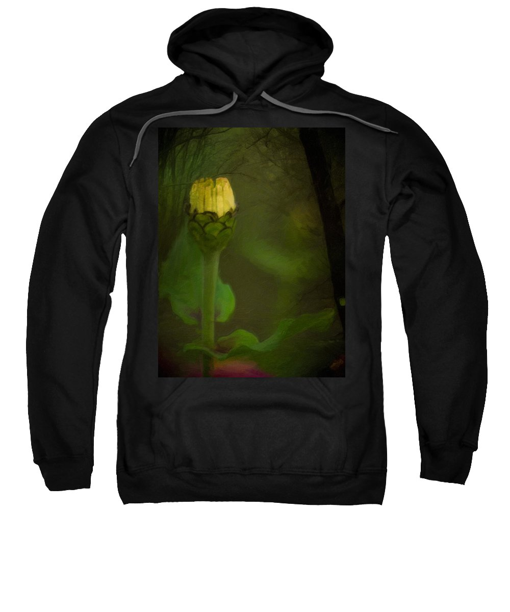 Flower Sweatshirt featuring the photograph About To Bloom by Trish Tritz