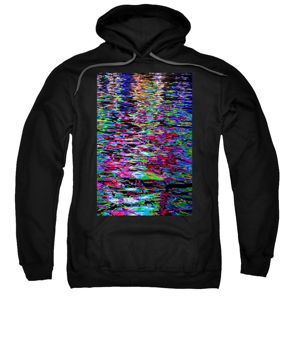 Reflections Of Lights On Water Sweatshirt featuring the photograph Abstract 240 by Mike Penney