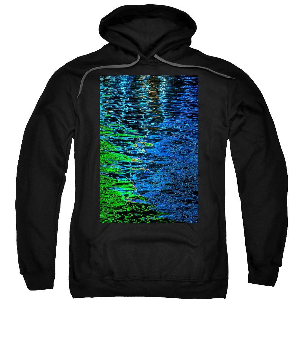 Reflections Of Lights On Water Sweatshirt featuring the photograph Abstract 265 by Mike Penney