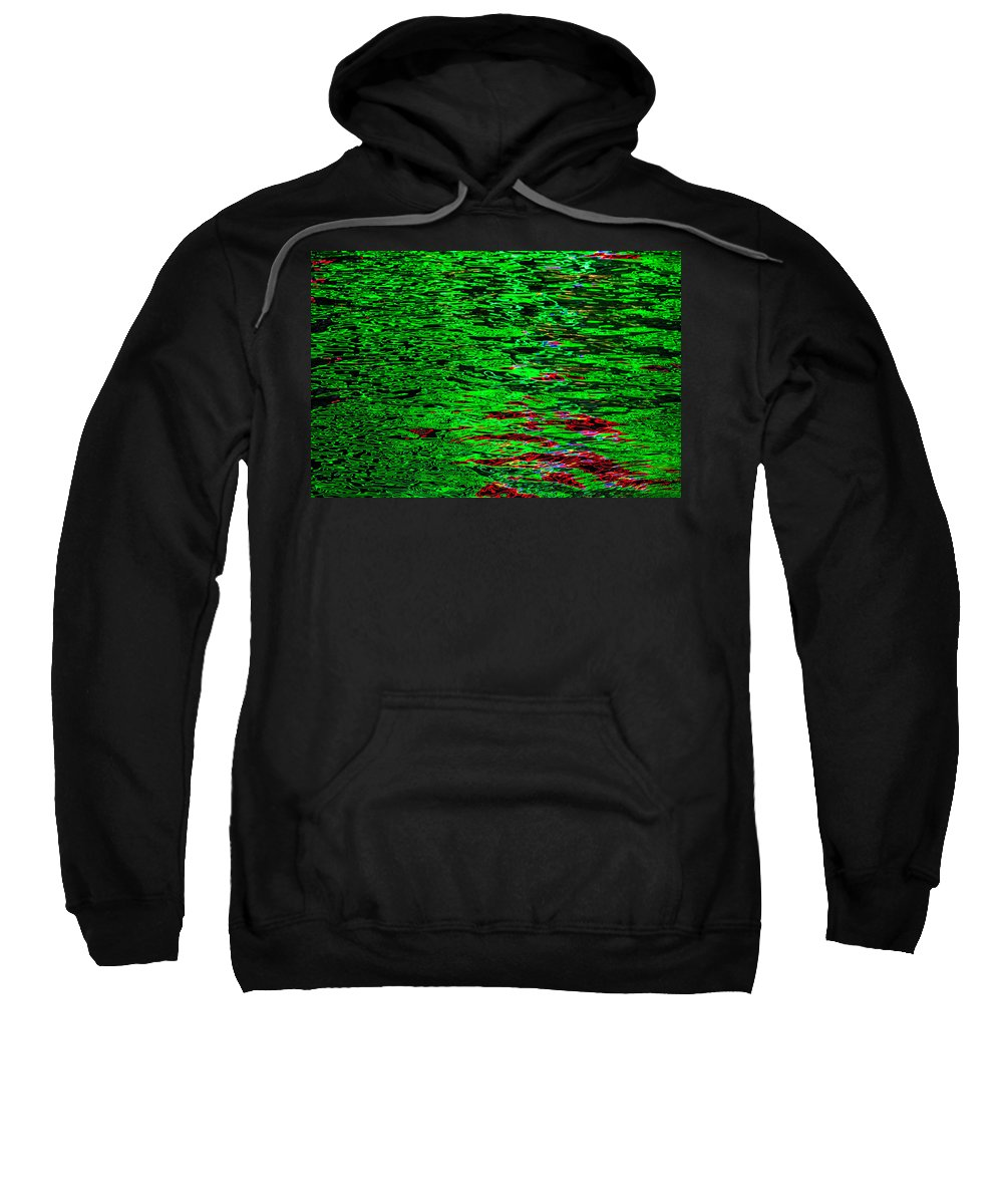 Abstract Reflections In Water Sweatshirt featuring the photograph Abstract 390 by Mike Penney