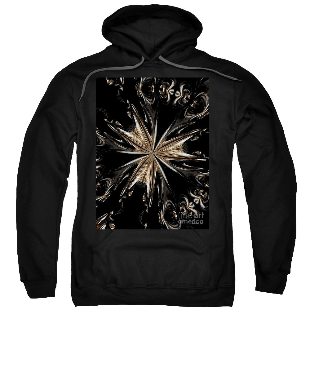 Abstract Sweatshirt featuring the digital art Abstract 45 by Maria Urso