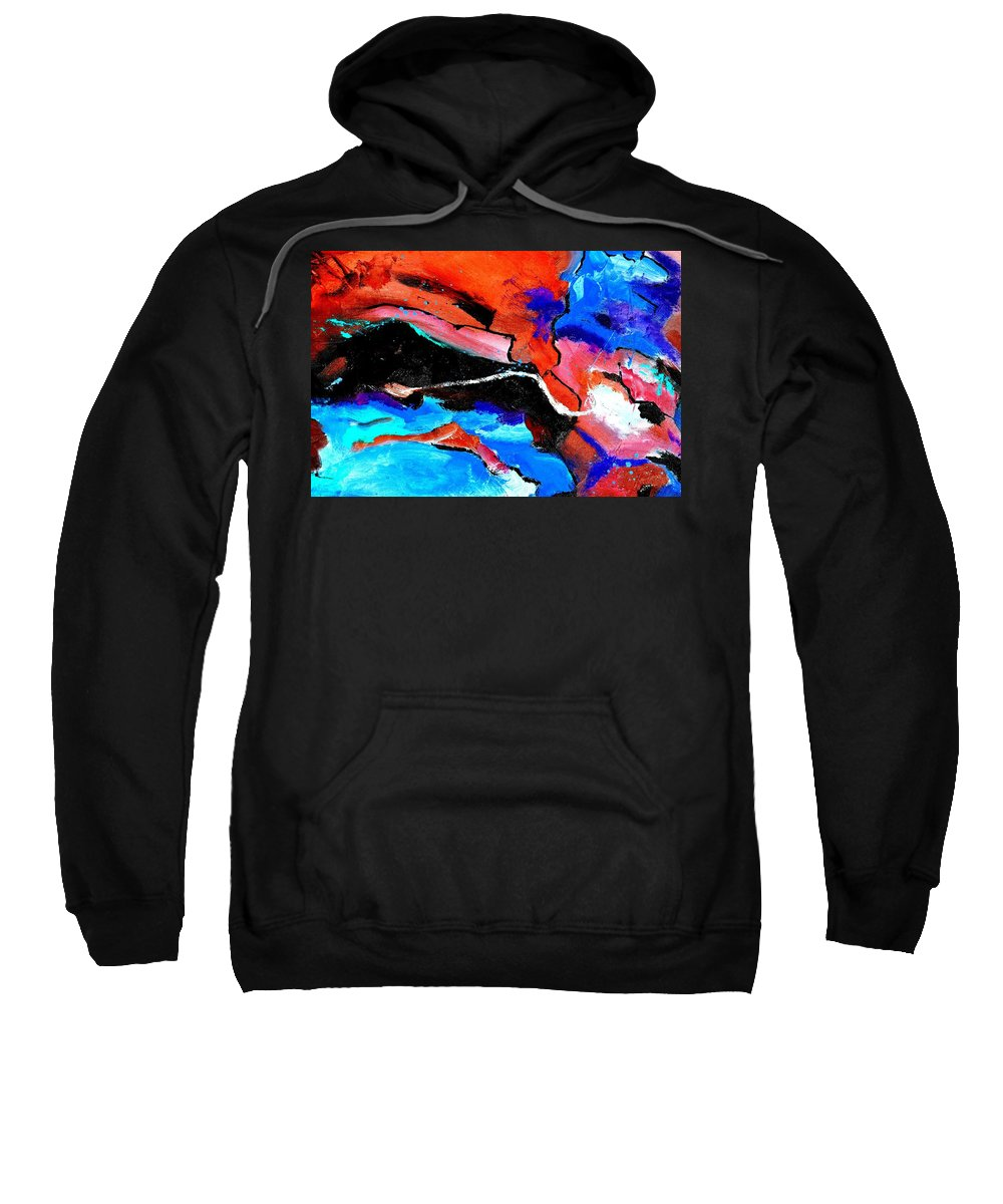 Abstract Sweatshirt featuring the painting Abstract 69212022 by Pol Ledent