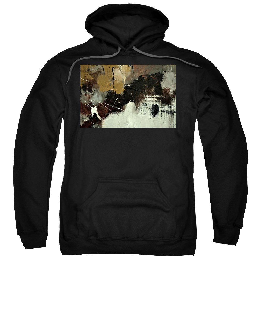 Abstract Sweatshirt featuring the painting Abstract 698542 by Pol Ledent