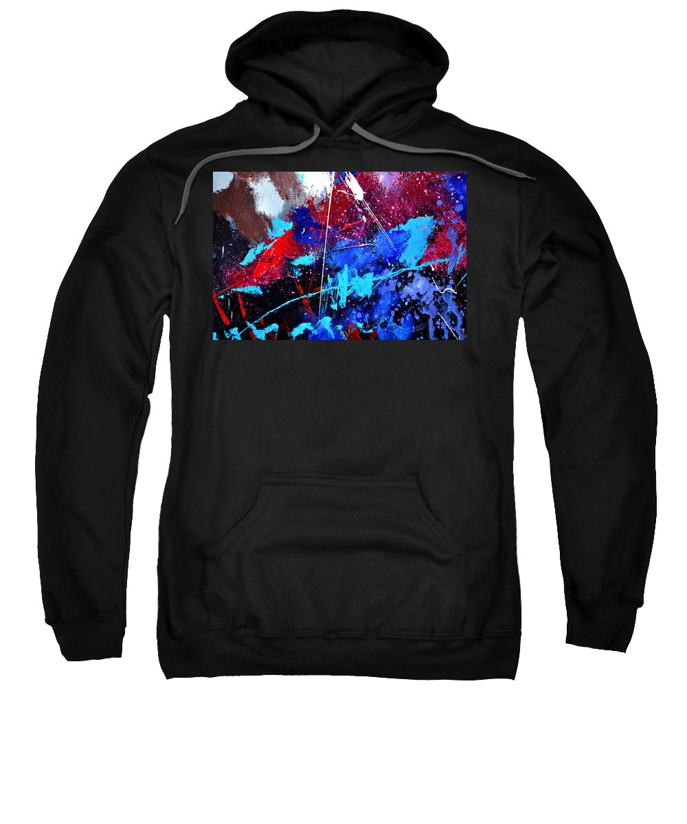 Abstract Sweatshirt featuring the painting Abstract 71001 by Pol Ledent