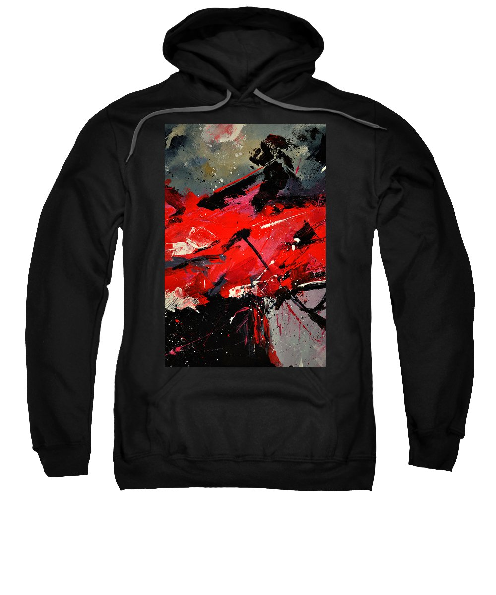 Abstract Sweatshirt featuring the painting Abstract 71002 by Pol Ledent
