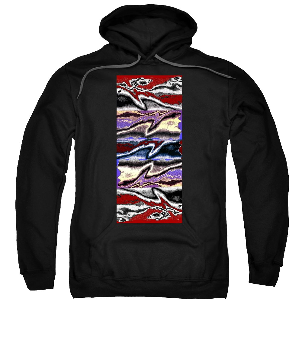 Abstract Fusion Sweatshirt featuring the digital art Abstract Fusion 101 by Will Borden