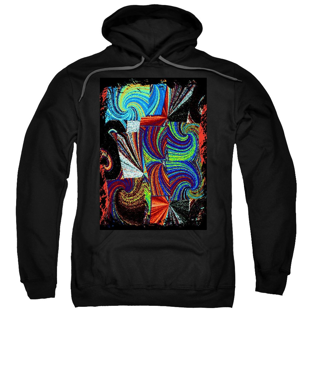 Abstract Fusion Sweatshirt featuring the digital art Abstract Fusion 37 by Will Borden