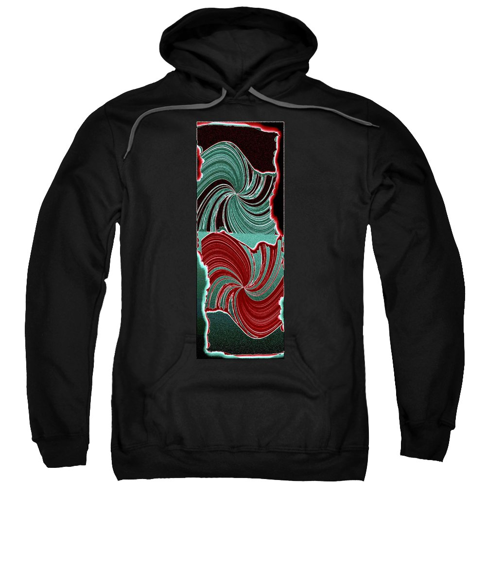 Abstract Fusion Sweatshirt featuring the digital art Abstract Fusion 88 by Will Borden