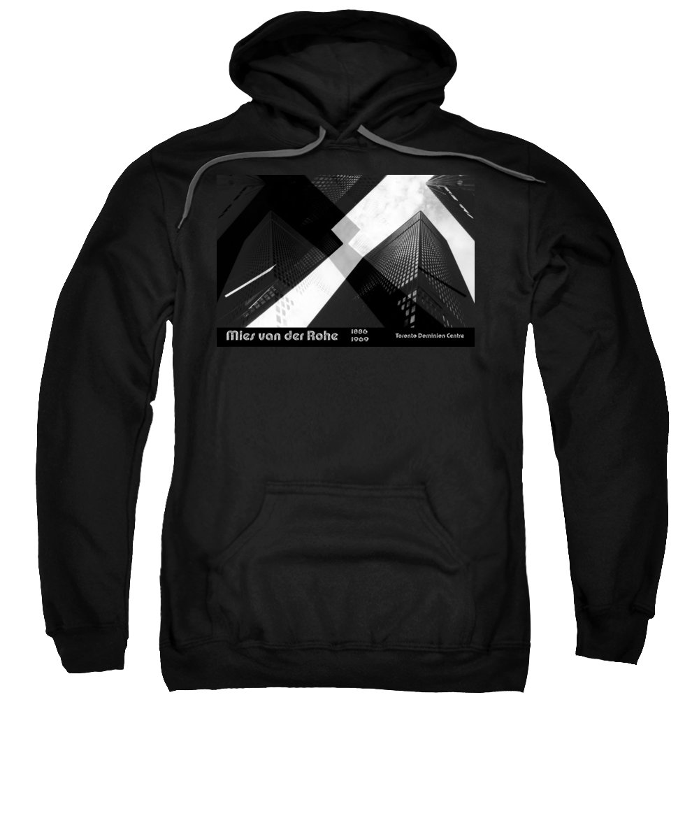 Architecture Sweatshirt featuring the photograph Abstract Mies by Andrew Fare