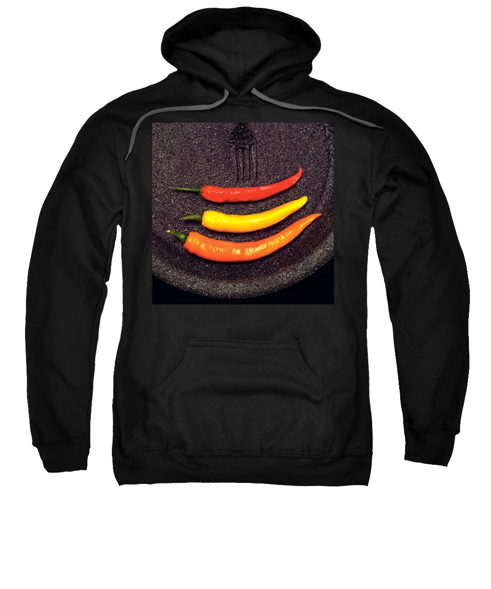 Hot Peppers Sweatshirt featuring the photograph Abstract by Mike Penney