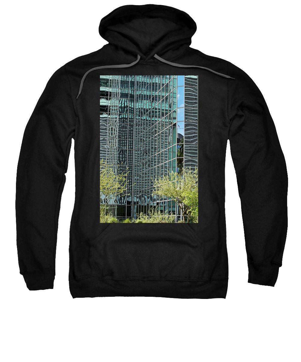 City Sweatshirt featuring the photograph Abstract Walls by Phyllis Denton