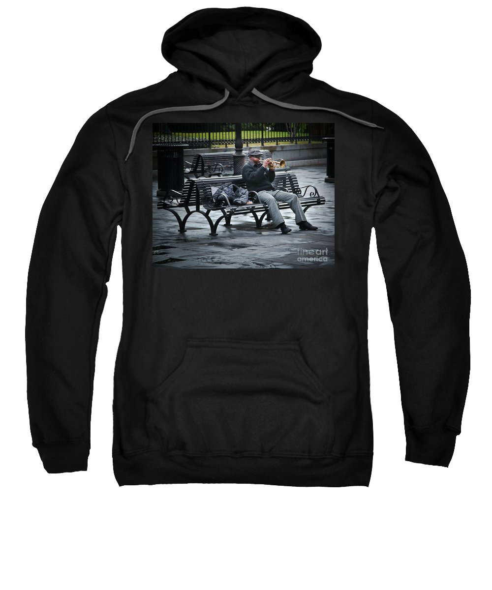 Music Sweatshirt featuring the photograph Afternoon Music by Perry Webster