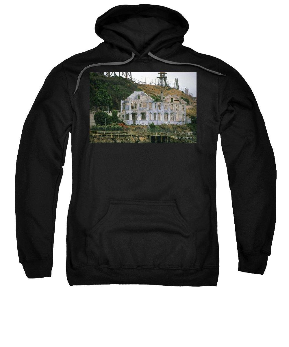 Alcatraz Sweatshirt featuring the photograph Alcatraz Skeleton by Paul W Faust - Impressions of Light